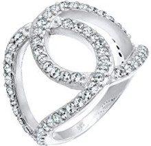 Elli da donna in argento Sterling 925 con cristalli Swarovski a forma di nodo con anello, misura Q 0602510216