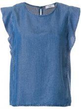 Closed - Blusa increspata - women - Lyocell - XS, M, L, S - BLUE