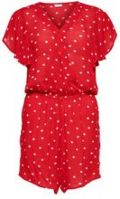 ONLY Printed Playsuit Women Red