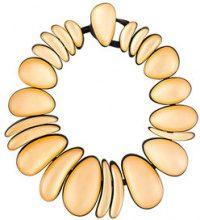 Monies - Collana oversize - women - Wood - OS - Metallizzato