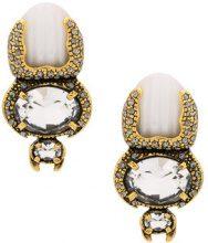 - Calvin Klein - Escaravello earrings - women - Metal (Other) - Taglia Unica - Metallizzato