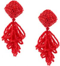 Sachin & Babi - Mini Lulu clip-on earrings - women - Glass Fiber - OS - RED