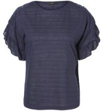 VERO MODA Lace Short Sleeved Top Women Blue