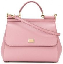 Dolce & Gabbana - Borsa tote 'Sicily' - women - Calf Leather - One Size - Rosa & viola