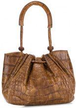 Giorgio Armani Vintage - Borsa a sacchetto - women - Crocodile Leather - OS - Marrone