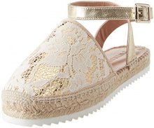 Twin Set CS8TE1, Espadrillas Basse Donna, Avorio (Chantilly), 37 EU