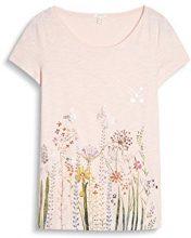 ESPRIT 047ee1k030, T-Shirt Donna, Rosa (Light Pink), 36 (Taglia Produttore: Small)