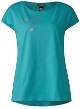 Street One 312274, T-Shirt Donna, Turchese (Sunny Aqua 21345), 46 (Taglia Produttore: 40)