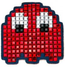 Anya Hindmarch - 'Space Invaders' bag patch - women - Crystal/Suede/Acetate - OS - RED