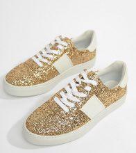 ASOS DESIGN - Drizzle - Sneakers stingate - Oro