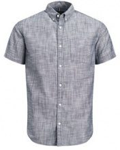 PRODUKT Classic Short Sleeved Shirt Men Blue