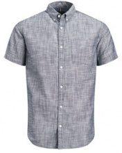 PRODUKT Classic Short Sleeved Shirt Men Blue