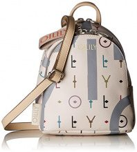 Oilily Jolly Letters Shoulderbag Svz - Borse a spalla Donna, Bianco (Offwhite), 9x20x17 cm (B x H T)