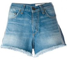 Rag & Bone /Jean - lateral detailing shorts - women - Cotone - 28 - BLUE