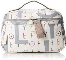 Oilily Jolly Letters Washbag Mhz 1 - Organizer borsa Donna, Bianco (Offwhite), 13x17x28 cm (B x H T)