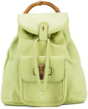 Gucci Vintage - Bamboo Line backpack - women - Leather - OS - GREEN
