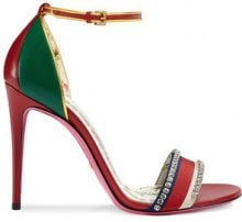 Gucci - Sandalo con cristalli - women - Leather/Crystal - 38.5, 39, 36.5 - Rosso