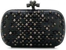 Bottega Veneta - studded chain knot clutch bag - women - Lamb Skin/Acetate - One Size - Nero