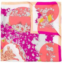 Emilio Pucci - floral print scarf - women - Silk - One Size - PINK & PURPLE