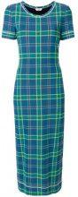 Fendi - Vestito con stampa plaid - women - Polyamide/Spandex/Elastane/Viscose - 38, 40 - BLUE