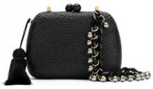 Serpui - straw clutch - women - Straw - OS - Nero