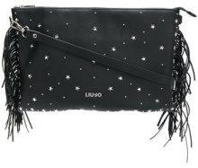 Liu Jo - Lima studded fringed clutch - women - Polyester - OS - Nero