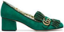 Gucci - Pumps 'Marmont 55' - women - Leather/Suede - 35, 36, 38 - GREEN