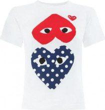 Comme Des Garçons Play - T-shirt con stampa - women - Cotone - S, M, L, XS - WHITE