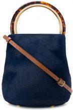 Marni - Pannier bag - women - Cotton/Calf Leather/Polyamide/Polymethyl Methacrylate - OS - BLUE