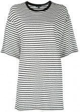 R13 - striped T-shirt - women - Cotone - S, M - Nero