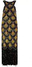 Jean Paul Gaultier Vintage - Vestito a fantasia con decori - women - Rayon/Silk - 42 - Multicolore