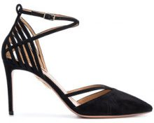 Aquazzura - Pumps a punta - women - Leather/Suede - 36, 36.5, 38, 40, 35.5, 37.5, 38.5, 39, 39.5, 41, 42, 37 - BLACK