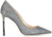 Jimmy Choo - Pumps 'Romy 100' - women - Leather/Metallic Fibre - 34, 34,5, 35, 35,5, 36, 36,5, 37, 37,5, 38, 39, 40,5, 41, 42 - Metallizzato