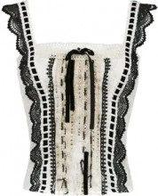 Martha Medeiros - Anne lace blouse - women - Polyamide - 38, 40, 44, 46 - Bianco