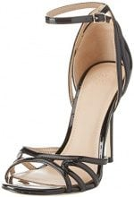 Guess Footwear Dress Sandal, Scarpe con Cinturino alla Caviglia Donna, Nero, 36 EU
