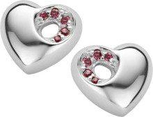 Orphelia donna-Orecchini in argento Sterling 925 rosso zircone ZO-5020