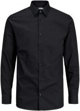 JACK & JONES Non-iron Long Sleeved Shirt Men Black