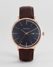 Paul Smith - PS0070008 Track - Orologio in pelle nero da 42 mm - Nero