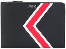 - Karl Lagerfeld - K stripe clutch - women - pelle - Taglia Unica - di colore nero