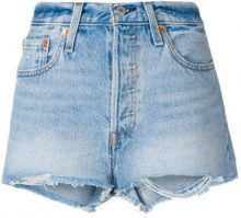 Levi's - 501 customised high rise shorts - women - Cotone - 31 - BLUE