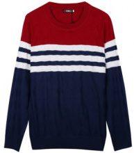 Pullover tricolore a losanghe