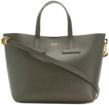 Tom Ford - Borsa tote con logo - women - Calf Leather/Polyamide/Polyurethane - OS - Verde
