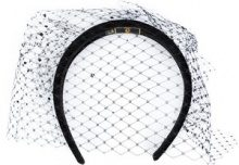 Piers Atkinson - veil hairband - women - Acrylic - OS - BLACK