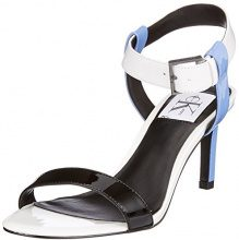 Calvin Klein Jeans Vanessa Patent, Scarpe con Cinturino alla Caviglia Donna, Bianco (SBW 000), 40 EU