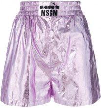 MSGM - Shorts running - women - Cotone/Polyurethane/Polyamide - 40, 38, 42 - PINK & PURPLE