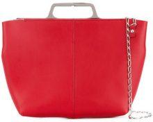 Mm6 Maison Margiela - chain crossbody bag - women - Calf Leather/Polyester/Iron - OS - Rosso