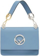 Fendi - Kan I F shoulder bag - women - Calf Leather/Polyamide/Polyurethane - One Size - Blu