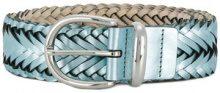 B-Low The Belt - Cintura con motivo intrecciato - women - Calf Leather - S, M, L - Blu
