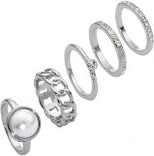 Set di anelli (set 5 pezzi) (Argento) - bpc bonprix collection