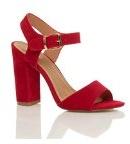 Donna tacco alto fibbia casual con cinturino alla caviglia sandali scarpe numero
